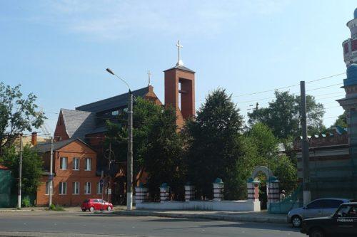 Католический храм на ул.Советской