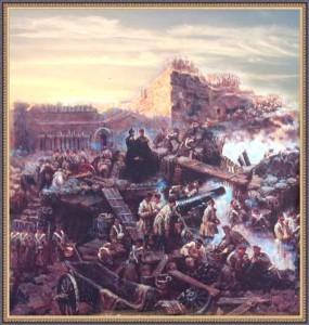 Атака неприятеля на Малахов курган