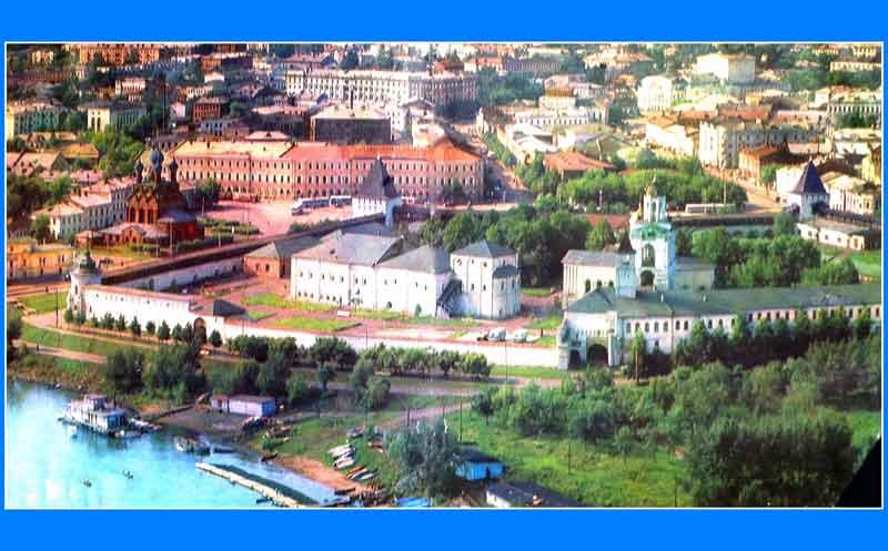 Вид на город Ярославль