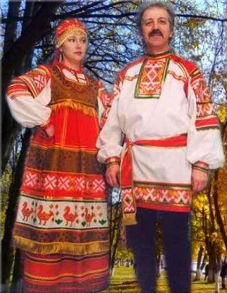 Русский_мужской_и_женский_костюм